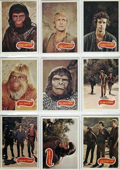 John Kenneth Muir& Reflections on Cult Movies and Classic TV: Trading Cards of the Week: Planet of the Apes (Top& Cult Movies, Sci Fi Movies, Films, Plant Of The Apes, Retro Toys, 1960s Toys, 1970s, My Childhood Memories, Childhood Toys