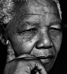 From Museum of Fine Arts, Boston, Herb Ritts, Nelson Mandela, Johannesburg Gelatin silver print Nelson Mandela, Beautiful Men, Beautiful People, Herb Ritts, Celebrity Portraits, Museum Of Fine Arts, Photos Of The Week, Black And White Photography, Famous People