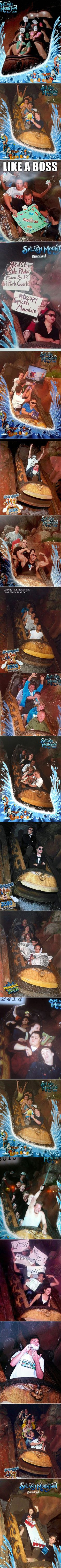 We have rounded up some funny Splash Mountain photos that were cleverly planned.