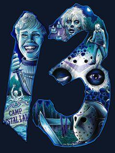 Horror Movie Art: Friday The Horror Posters, Horror Icons, Horror Pictures, Horror Movie Characters, Horror Movie Tattoos, Horror Artwork, Classic Horror Movies, Friday The 13th, Jason Friday