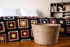 Handcrafted eco-friendly Jinja Basket - Please check our online store @ www.jinjaritual.com/  #ecofriendly #ecodesign #basket #textilewaste #handmade #handcrafted #interiordesign #interiors   #jinjaritual #jinja #sustainabledesign #ecofriendly #portugal #rosaetal #porto