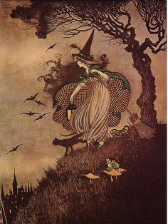 Little Witch   ☆   ☽   ★☽  ☆  by Ida Rentoul... - L'Assommoir