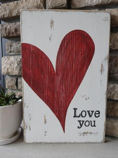 Diy Valentine's Day Decorations, Valentines Day Decorations, Valentine Day Crafts, Love Valentines, Arte Country, Heart Painting, Heart Crafts, Valentine's Day Diy, Spring Crafts