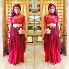 Kebaya dress chiffon layered