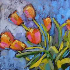 """Daily Paintworks - """"Hint of spring"""" - Original Fine Art for Sale - © Jean Delaney"""