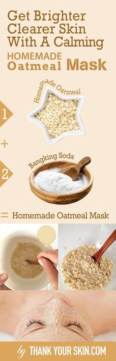 Tired of having oatmeal for breakfast? Use it in this DIY face mask instead and say goodbye to your pesky breakouts. Homemade Face Masks, Homemade Skin Care, Diy Face Mask, Diy Mask, Natural Hair Mask, Natural Skin Care, Natural Hair Styles, Natural Beauty, Oatmeal Face Mask