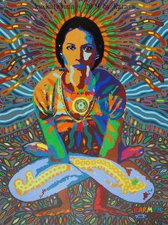 Kukkutasana - 2009 by karmym Christy Turlington Yoga Painting Thomas Merton, Christy Turlington, Yoga Kunst, Yoga Painting, Spiritual Paintings, Yoga Art, Archetypes, Yoga Inspiration, Art Paintings