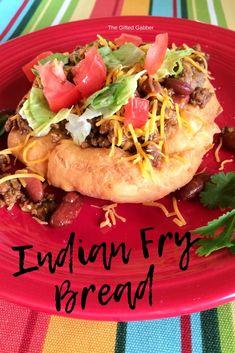 taco recipes Indian Fry Bread Tacos - The Gifted Gabber - Taco Night - Fried Bread - Fried Dough - Recipe - Recipe - Taco ideas - Easy Dinner Ideas - Delicious dinner recipes - Indian Taco Recipes, Mexican Food Recipes, Beef Recipes, Cooking Recipes, Ethnic Recipes, Easy Recipes, Family Recipes, Fry Bread Tacos, Gourmet