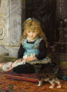 Puss in Boots by English Pre-Raphaelite Painter John Everett Millais 1829 -1896