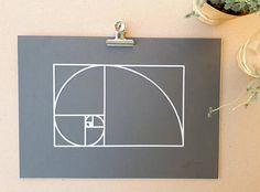 Fibonacci wall art  paper cut collage. Golden #art #mixedmedia @EtsyMktgTool http://etsy.me/2ik6iga