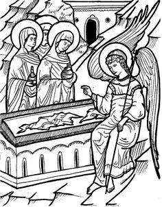 myrrhbearers icon coloring page