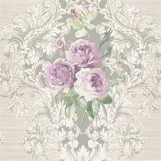 Vesper Floral Wallpaper by Seabrook Wallpaper Go Wallpaper, Damask Wallpaper, Pattern Wallpaper, Wallpaper Borders, Wallpaper Online, Vintage Flowers, Vintage Floral, Victorian Wallpaper, Mother's Day
