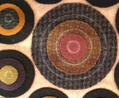 Tute for making evenly stitched pennies:  use circle template to draw circles and stitch up to the line.  The stitching will be even all the way around.  Great idea.  .