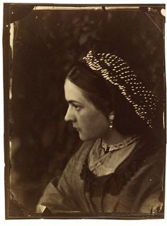 Untitled  Julia Margaret Cameron, 1864. Hairnet set with beads, possibly cut steel.