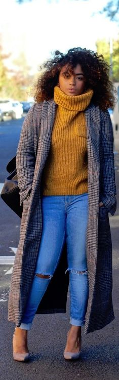 CHUNKY KNITS / Fashion  women fashion outfit clothing style apparel @roressclothes closet ideas