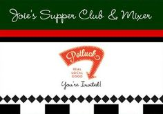 Creating my first invitation to my first upcoming Supper Club & Mixer Potluck using www.sendoutcards.com/joie