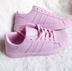 """Adidas"" Fashion Shell-toe Flats Sneakers Sport Shoes Pure color Pink on Wanelo Adidas Superstar, Adidas Fashion, Fashion Shoes, Fashion Fashion, Street Fashion, Cute Shoes, Me Too Shoes, Pink Beige, Pastel Pink"