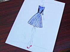 Croqui - Welson Prado (Um vestido para uma Dama)