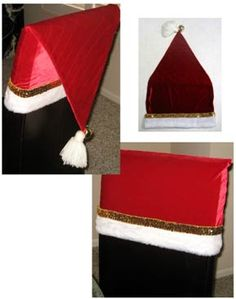 Almost No Sew Santa Chair Back Covers