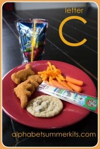 A list of dinners, lunches, snack that go with the letters of the alphabet!