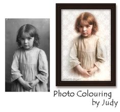 Coloring Old Photos Tutorial ~ Learn how to give your heritage photos a 'hand colored' look digitally! -PSP with TOC Photoshop Photography, Photography Photos, Photo Software, Heritage Scrapbooking, Photo Restoration, Photoshop Elements, Photoshop Tips, Lightroom, Family Genealogy