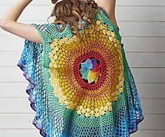 Chart for centre of Rainbow Mandala Waistcoat by Sara Huntington - Simply Crochet
