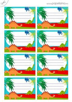 Etiquetas-libros-para-imprimir-dinosaurios-A4                                                                                                                                                                                 Más