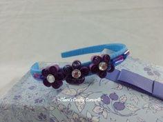 Purply Flower Headband -2