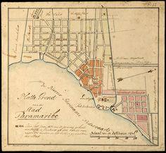 Platte grond van de stad Paramaribo (1821)