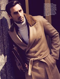 Josh Wald by Colin Angus for Men's Book. I'm a sucker for a well made camel coat.