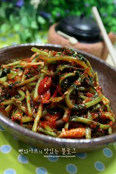 K Food, Food Menu, Cooking Recipes For Dinner, No Cook Meals, Korean Food Kimchi, Korean Side Dishes, Asian Recipes, Healthy Recipes, Asian Snacks
