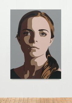 Julian Opie | Lily, eyes straight, head left 2 (2014) | Artsy