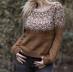 Ravelry: Wildwood Sweater pattern by Heidi May Crochet Patterns For Beginners, Knitting Patterns, Sweater Patterns, Heidi May, Velvet Acorn, Fair Isle Knitting, Stockinette, Knit Crochet, Ravelry