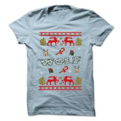 your family and friend:  Christmas WOLF ... 999 Cool Name Shirt ! Tee Shirts T-Shirts