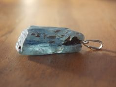 Blue Kyanite Pendant with Silver Bail single by CallaBeadSupplies, $6.95