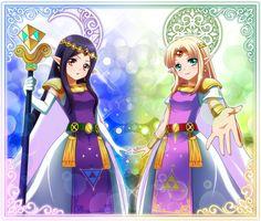 Princess Hilda and Zelda from A Link Between Worlds