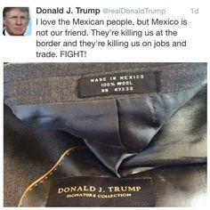 Donald Trump's politics.