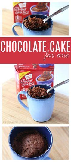 Easy Chocolate Cake for One - Chocolate Lover's Cake #PerfectSizefor1 AD - Raising Whasians