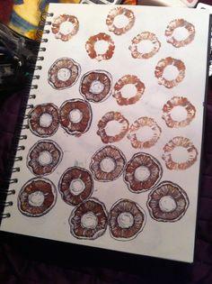 Mushrooms drawing Josie Selfe