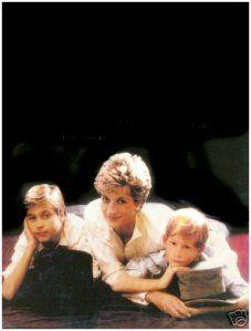 Princess Diana, Prince Wiliam, and Prince Harry