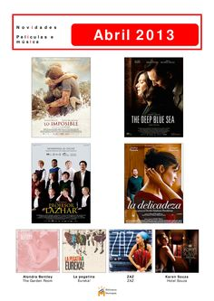 Cine e música novos na Biblioteca Os Rosales. Dende o luns 1 de abril, podedes levalos en préstamo.