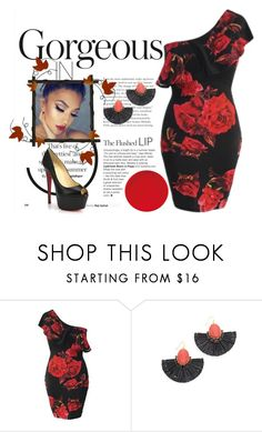 """""""Red rose"""" by bijouxinedit on Polyvore featuring Kate Spade and Christian Louboutin"""
