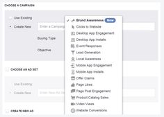 "Neue Zielsetzung ""Brand Awareness"" (Quelle: Facebook)"
