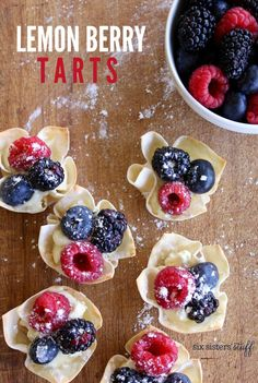 Lemon Berry Tarts from SixSistersStuff.com | Throw these cute Easy Lemon Berry Tarts together in just 15 minutes for the perfect Mother's Day Brunch!