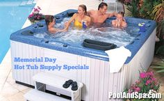 Countdown to Memorial Day Weekend - Only 2 days left! Check out our Memorial Weekend Specials On Hot Tub Supplies to get your hot tub ready for the fun! Save big on all chemicals and supplies this week at PoolAndSpa.com. Spa Chemicals, Thermal Blanket, Spa Accessories, Spa Water, Memorial Weekend, Spas, Coupons, Hot Tubs, Memories