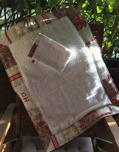 Tapis molletonné, Lin, monogramme, coton : Textiles et tapis par realisa