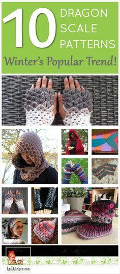 The Best Crocodile Stitch Patterns – This Winter's Popular Crochet Trend! #crochet