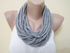 Infinity scarf chain loop scarf crochet scarf by BloomedFlower, $17.00