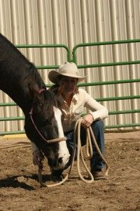 Help calm a nervous horse with this simple technique.