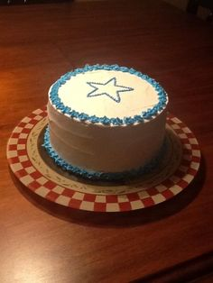 Fourth of July cake - inside red white and blue